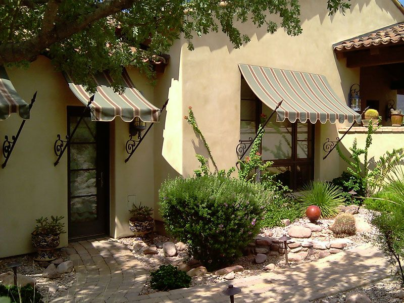 Looking For Ideas For My Ugly Front Yard. We Have Sad Curb Appeal! This  Awning Would Shade My Front Door And Go With Spanish Style House!