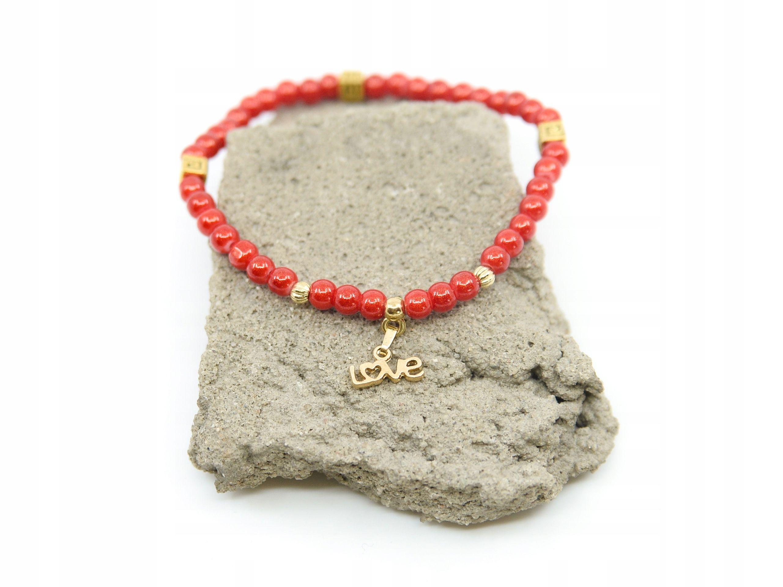 Bransoletka Czerwona Koraliki Love Boho Folk Etno 7780159074 Oficjalne Archiwum Allegro Crochet Necklace Jewelry Necklace