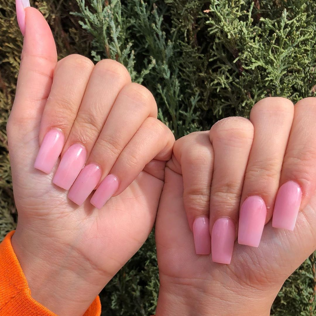 Tapered Square Pink Nails Nailsofinstagram Nails Claws Nailsonfleek Nailsaddict Lasvegas Vegasnails 7 Rose Gold Nails Vegas Nails Trendy Nails