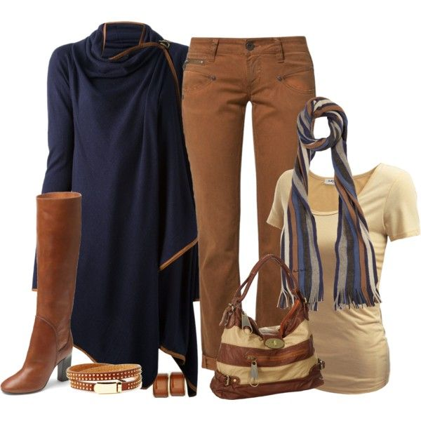 Blue & Brown, created by striplingmom-1 on Polyvore