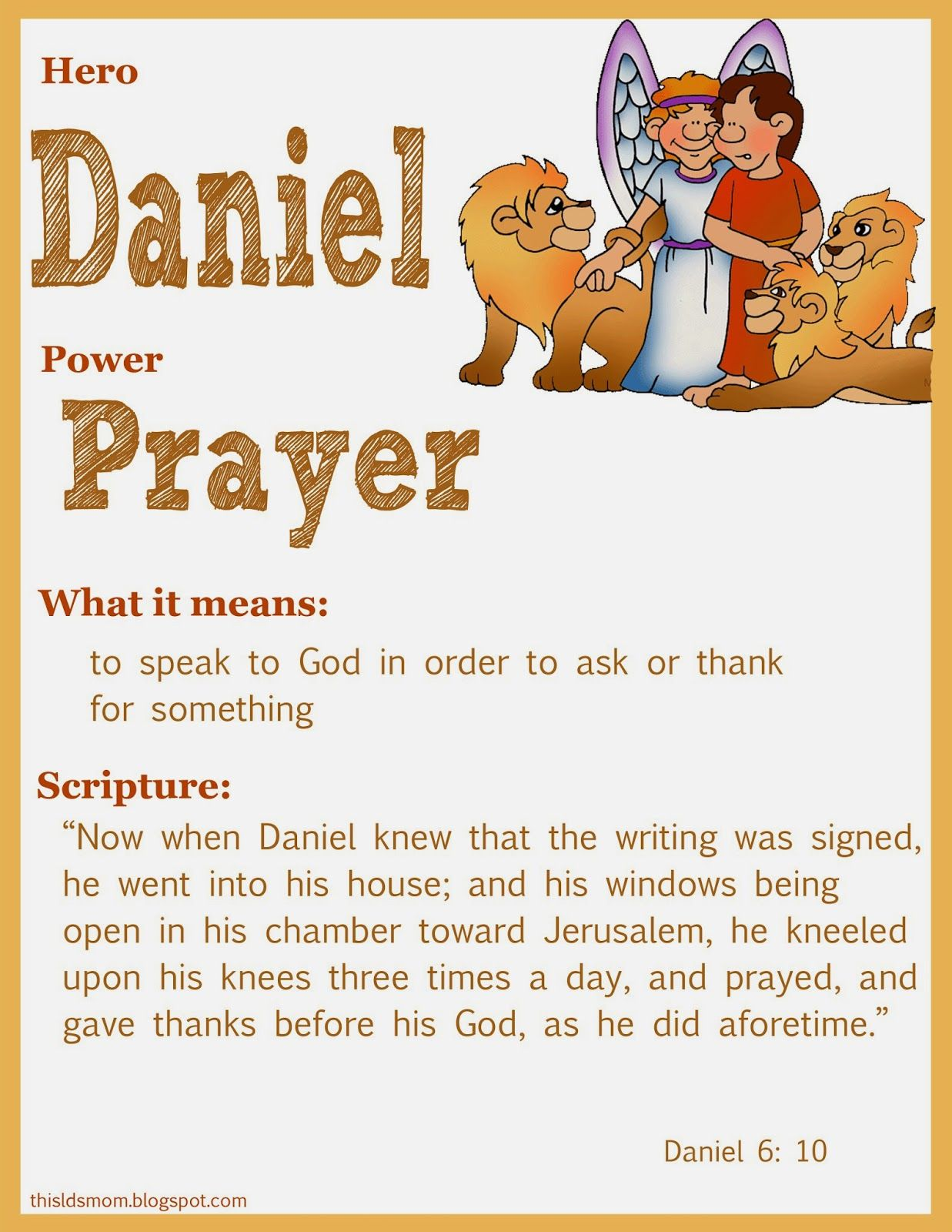 Free coloring pages daniel and the lions den