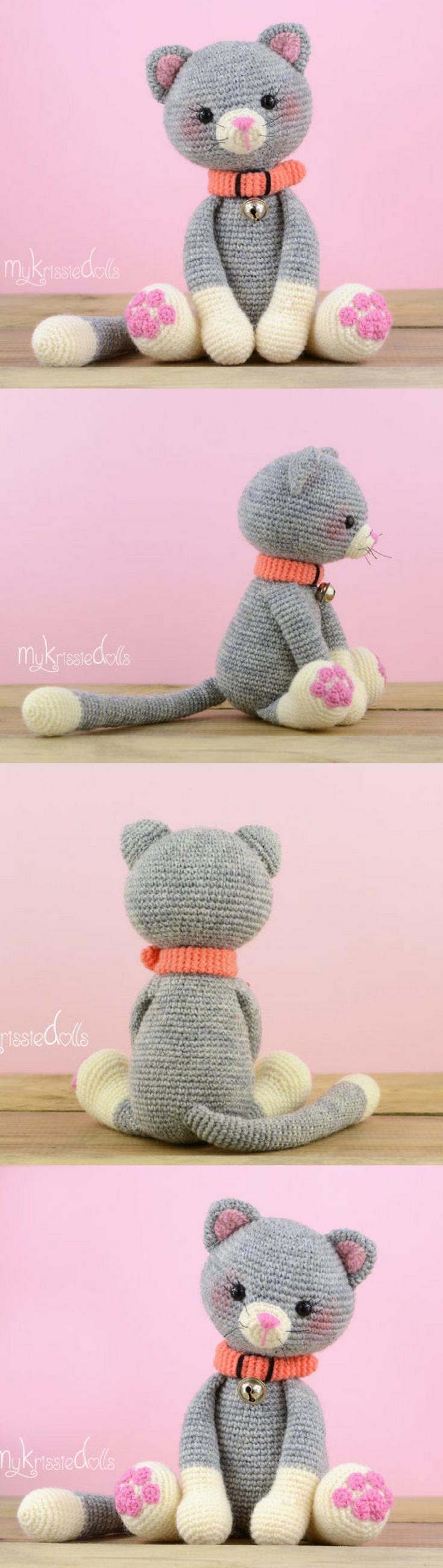 Amigurumi My Little Kitty Crochet Pattern Printable PDF #ad #amigurumi #amigurumidoll #amigurumipattern #amigurumitoy #amigurumiaddict #crochet #crocheting #crochetpattern #pattern #patternsforcrochet #printable #instantdownload