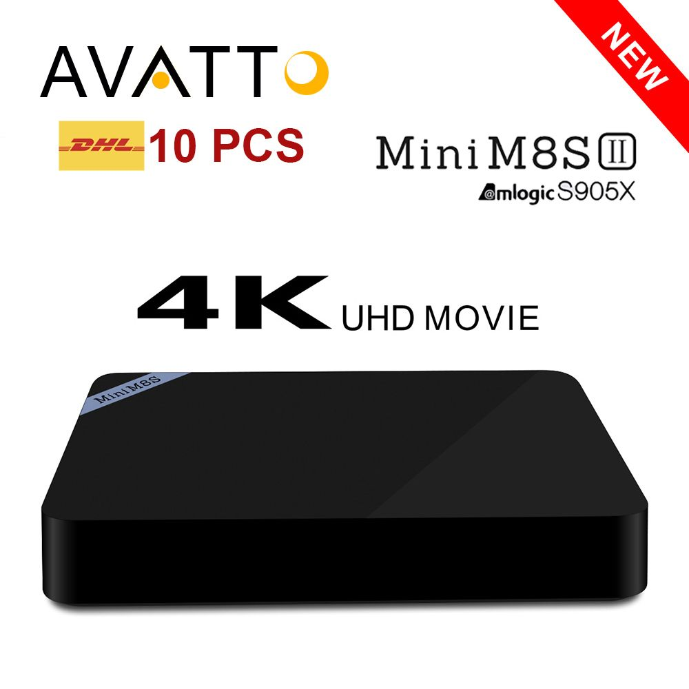 ==> [Free Shipping] Buy Best [Genuine] 10PCS/Wholesale Mini M8S II Plus Android 6.0 Amlogic S905X 2GB 8GB Smart TV Box Quad Core 16.1 KODI HDIM WIFI 4K H.265 Online with LOWEST Price | 32656025552