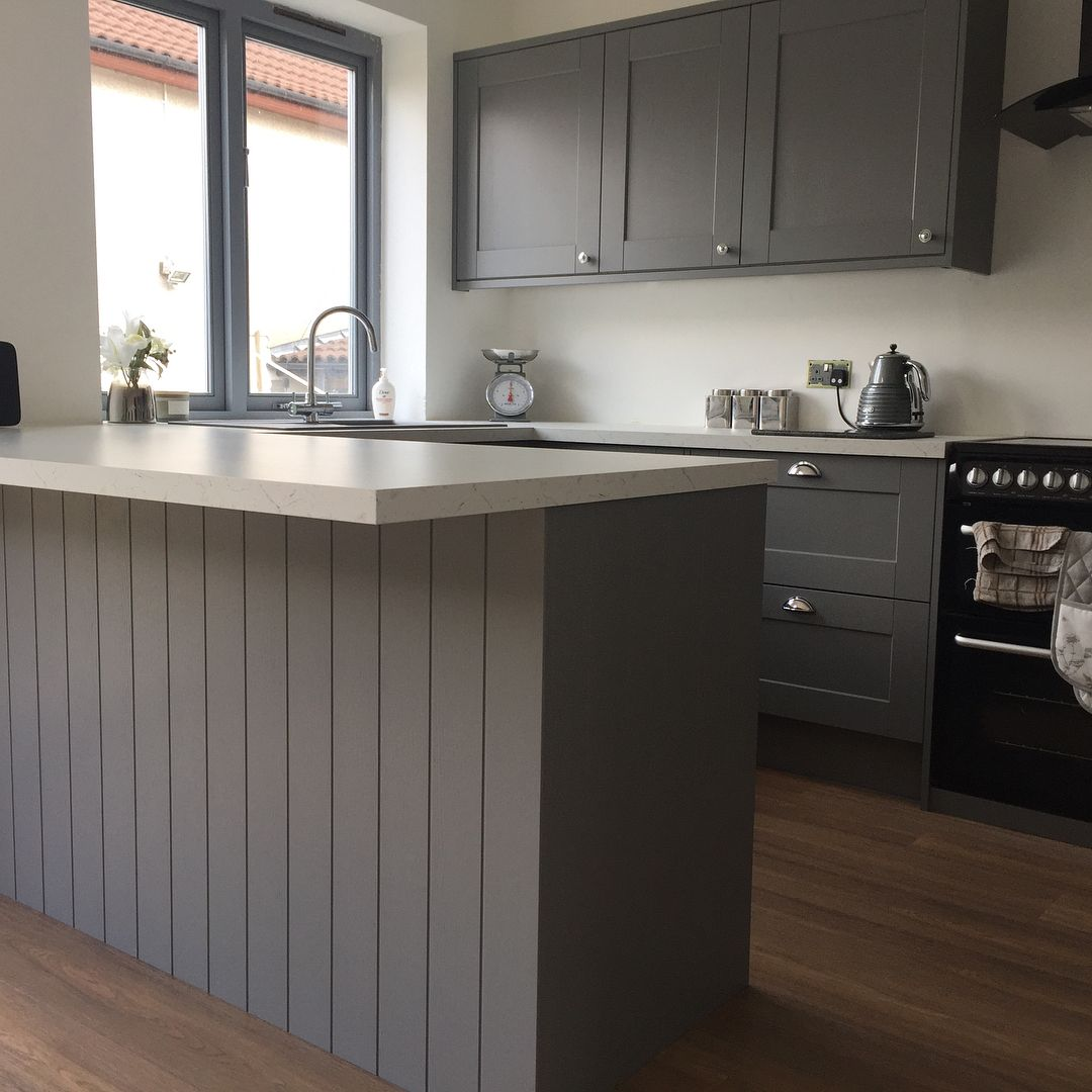 Howdens (With images) Grey kitchen designs, Grey kitchen