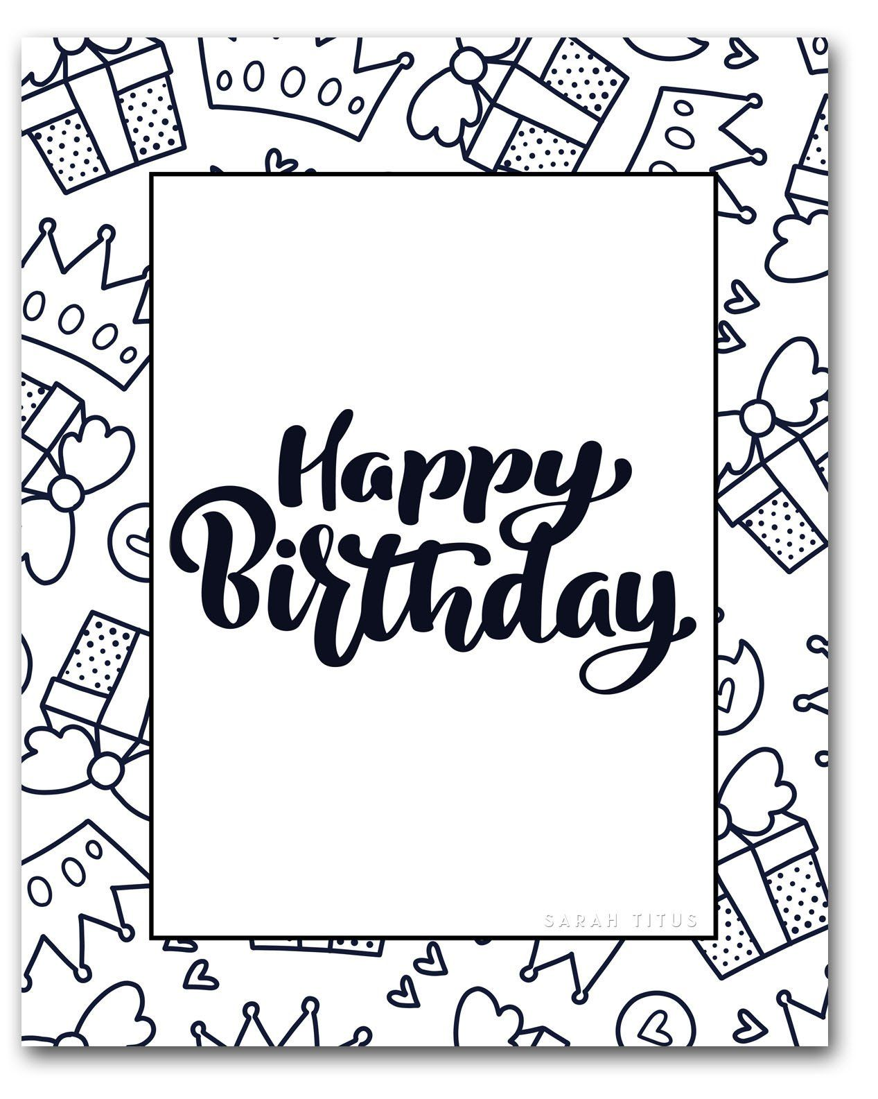 Birthday Coloring Pages Free Coloring Pages Awesome Free Birthday Coloring Pages Birthday Coloring Pages Happy Birthday Coloring Pages Coloring Birthday Cards