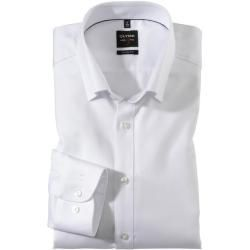 Business clothes for men -  Olymp Level Five shirt, body fit, under-button-down, white, 45 Olympus...