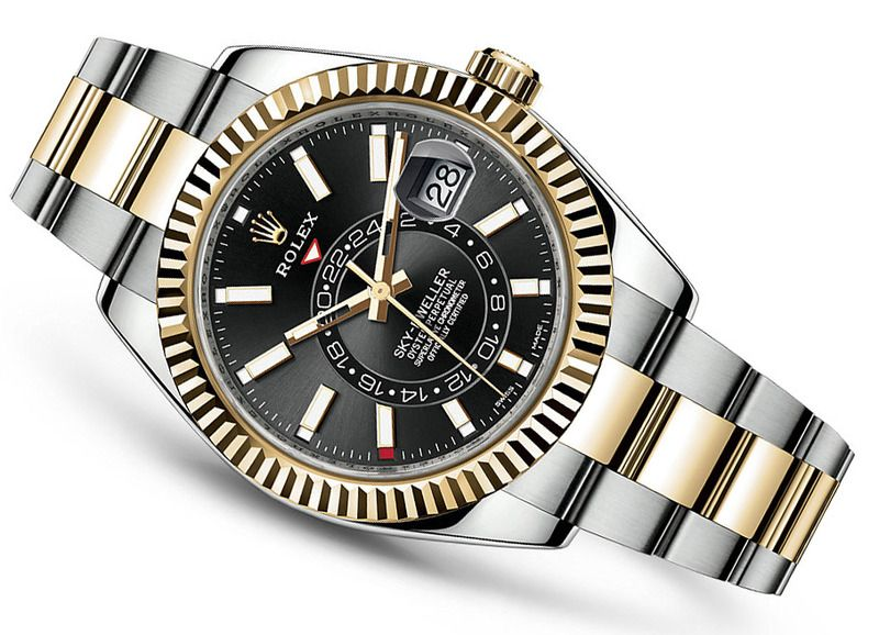 Image result for rolex sky dweller two tone