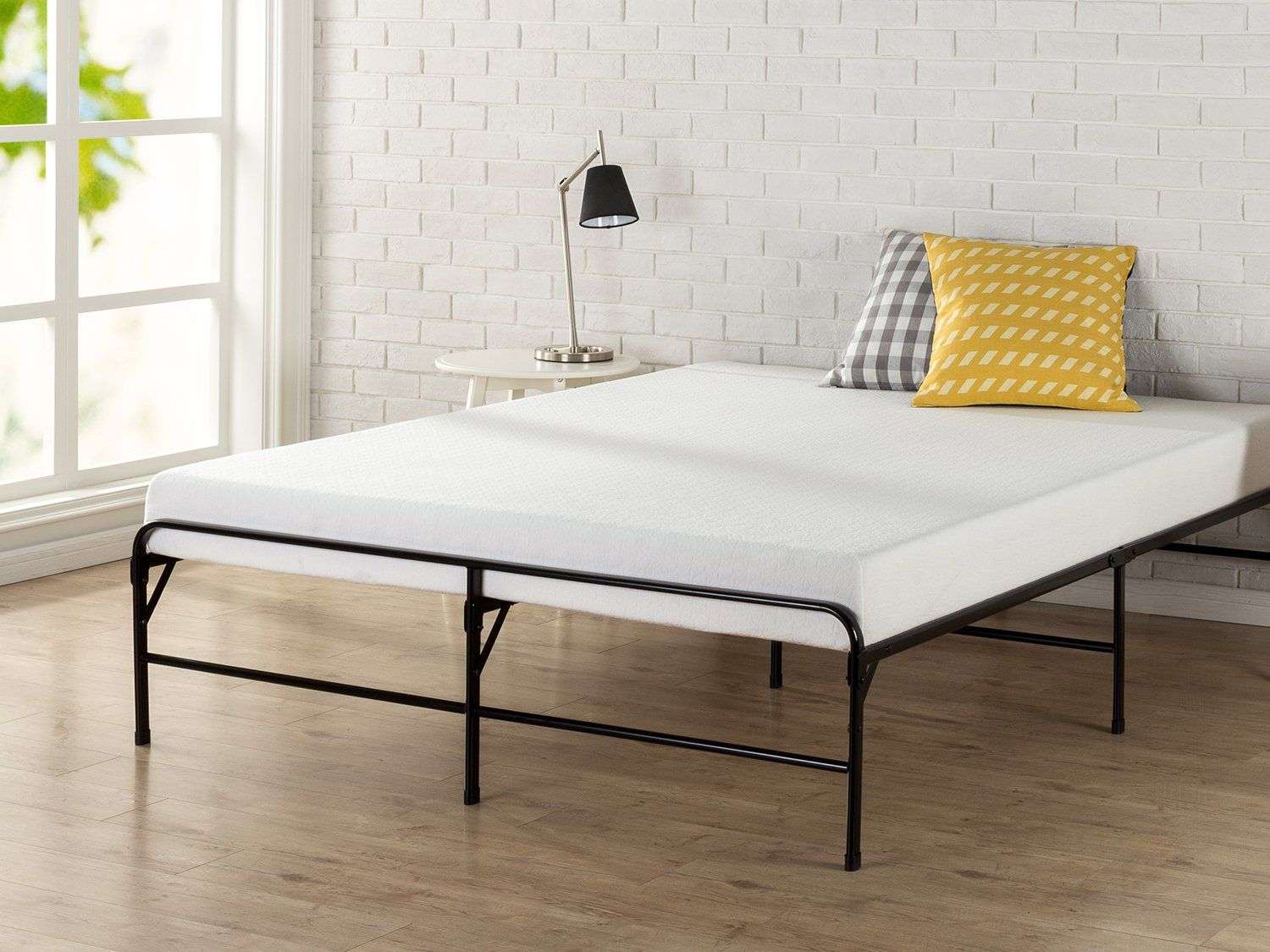 Zinus inch bifold platform bed frame folding mattress