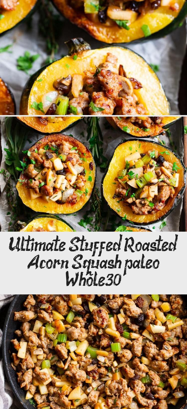 Ultimate Stuffed Roasted Acorn Squash Paleo Whole30 Acorn