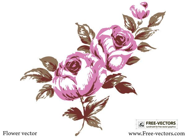 Flower Vector Free Floral Vector Graphics Pinterest Vector