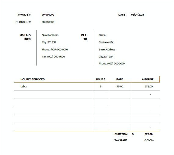 Consult Invoice Templates Downloadable Invoice Template How To
