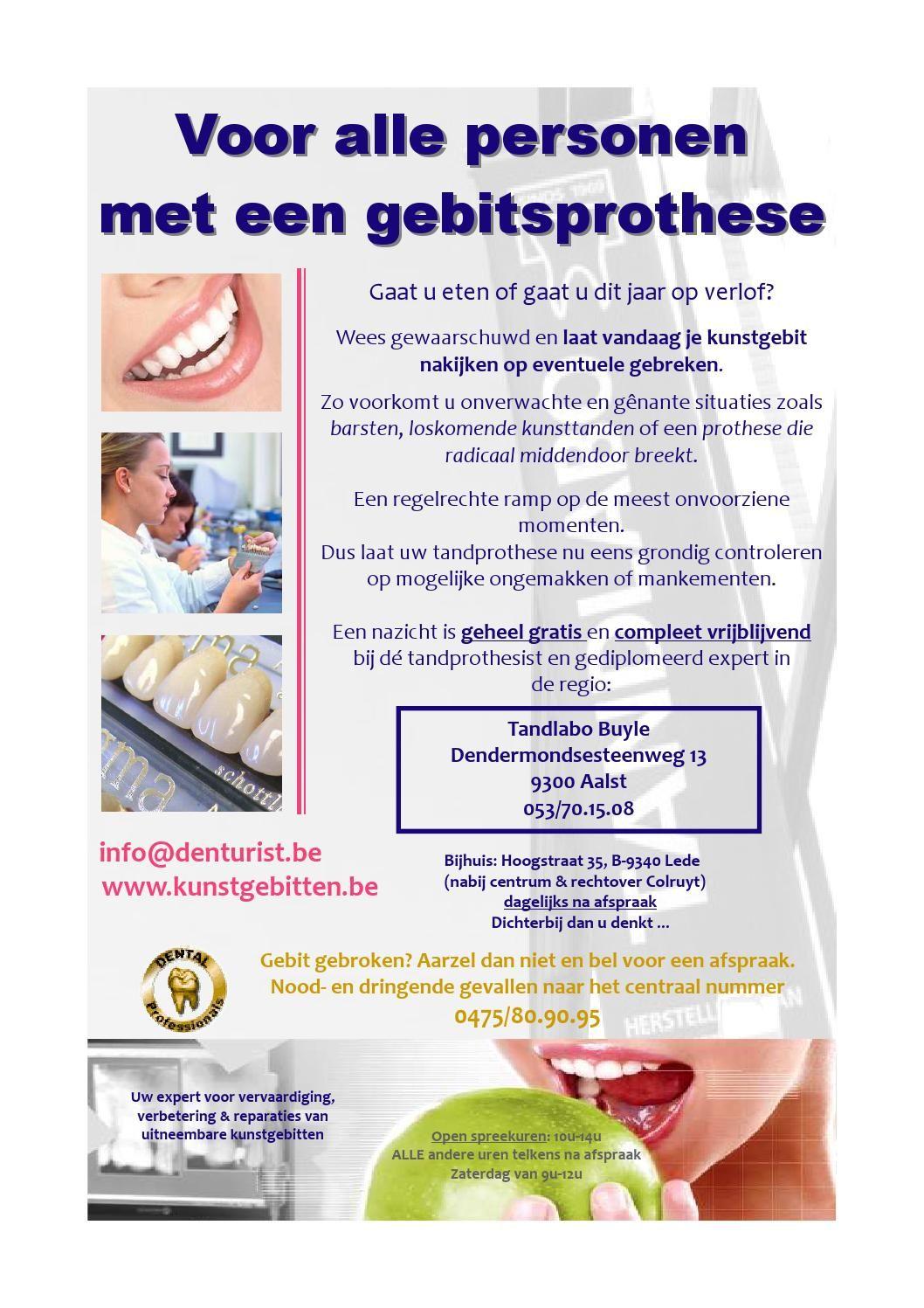 Tandlabo Buyle  www.kunstgebitten.be