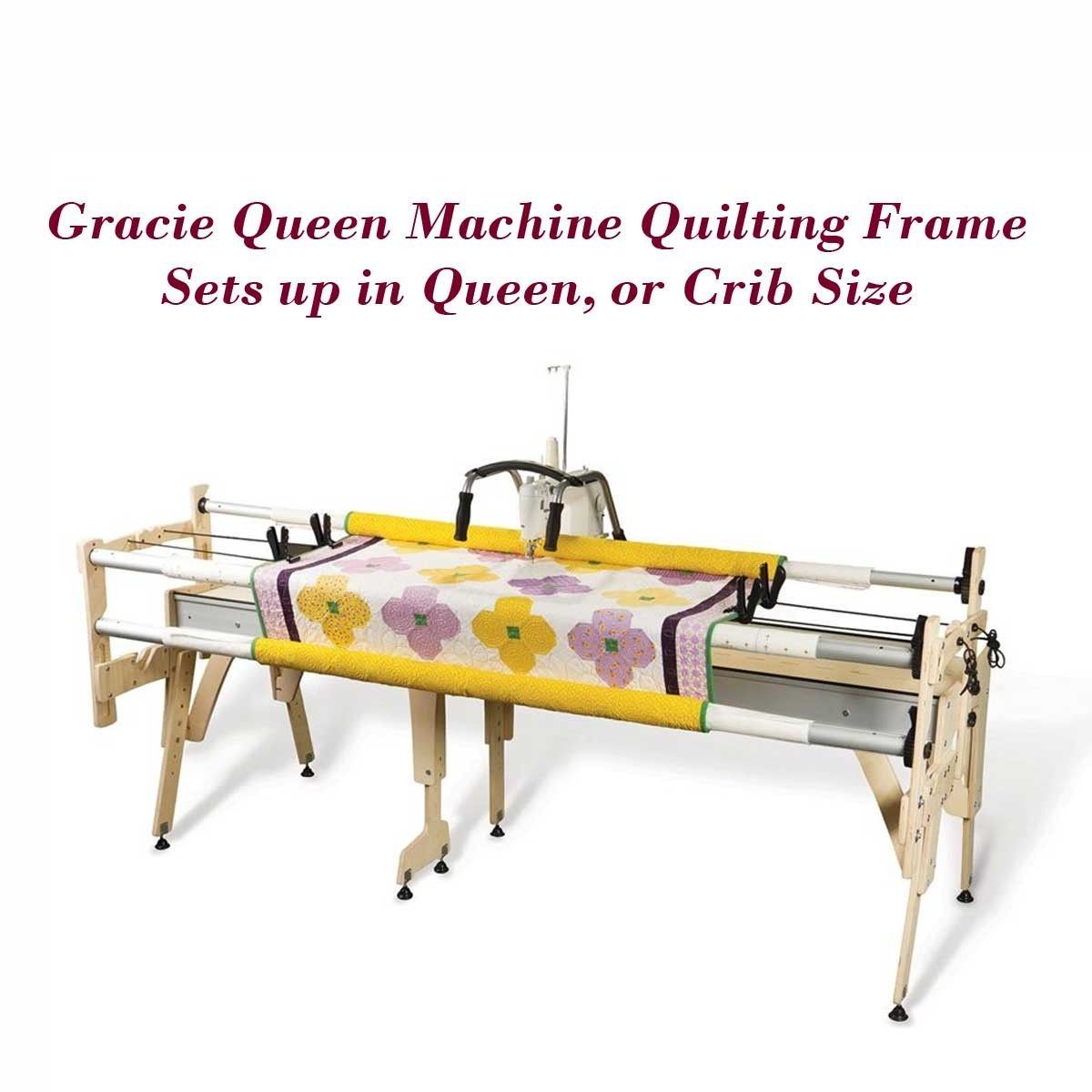 Sew Vac Direct - Grace Gracie Queen Machine Quilting Frame, QuiltCad ...