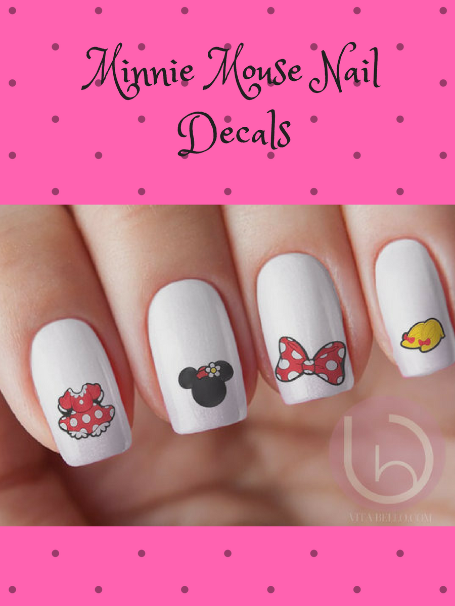 Minnie Mouse Waterslide Nail Decals #affiliatelink | Disney Nail Art ...