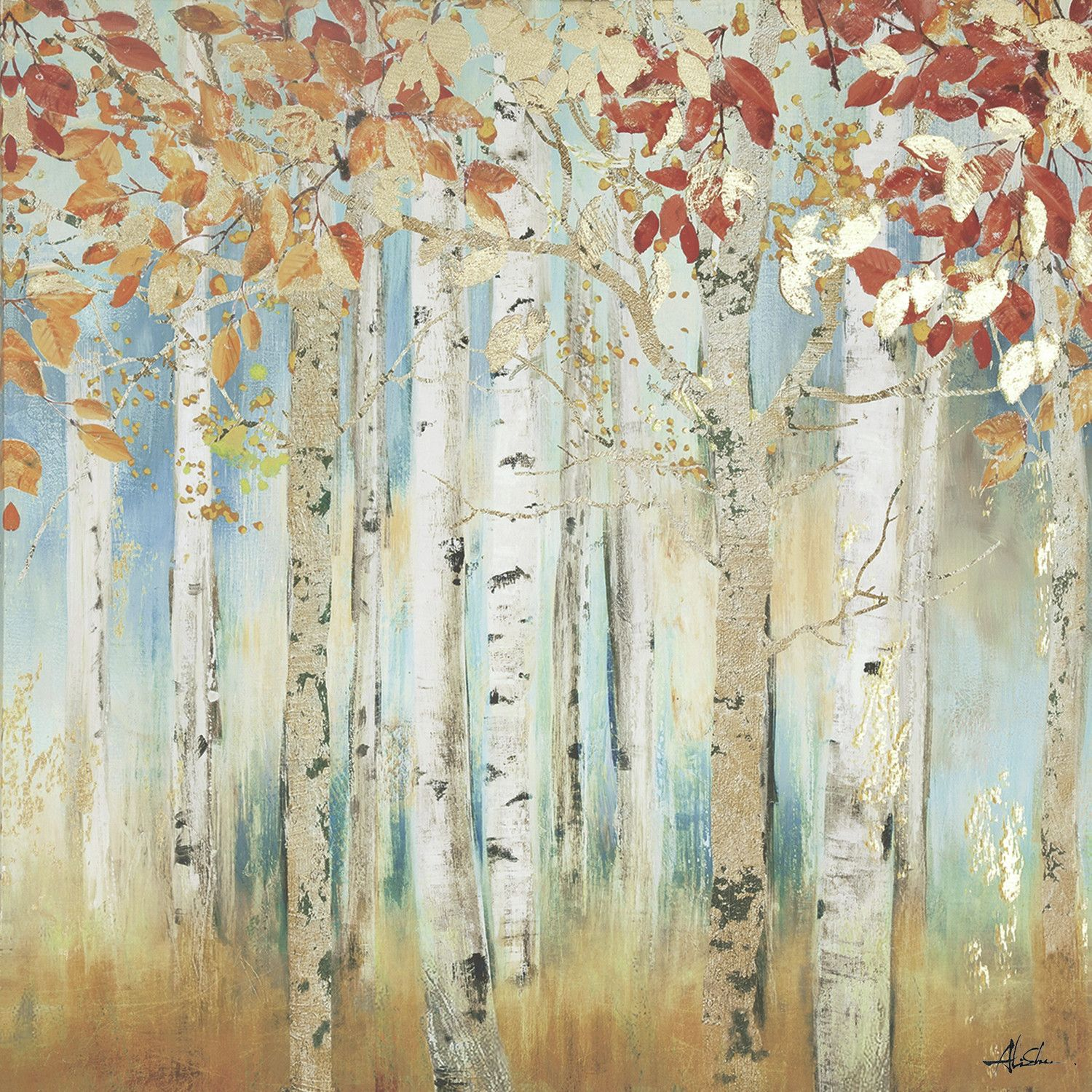 Yosemite Home Decor Birch Beauties I Painting Print On Wrapped