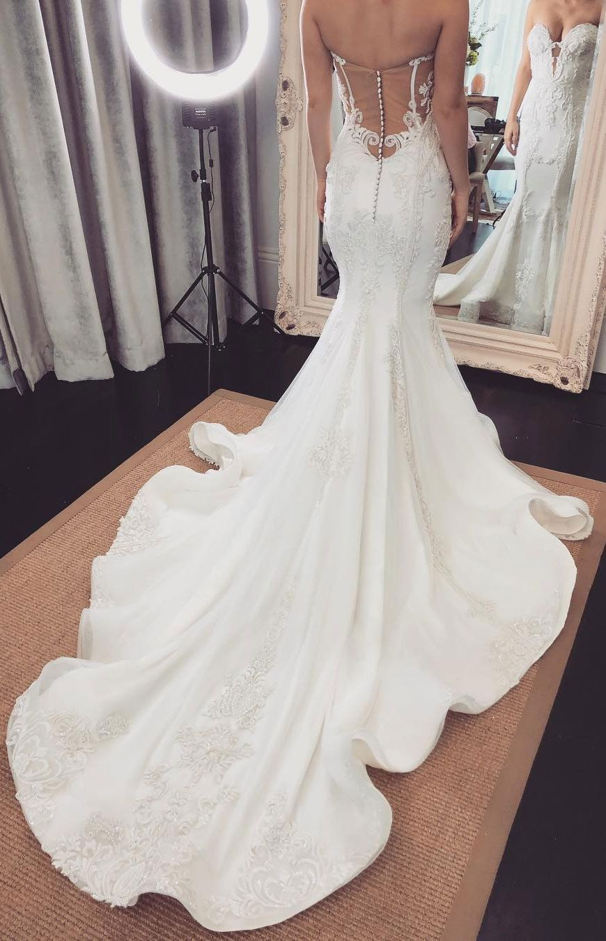 41 Incredibly Gorgeous Mermaid Wedding Dresses With Incredible Elegance