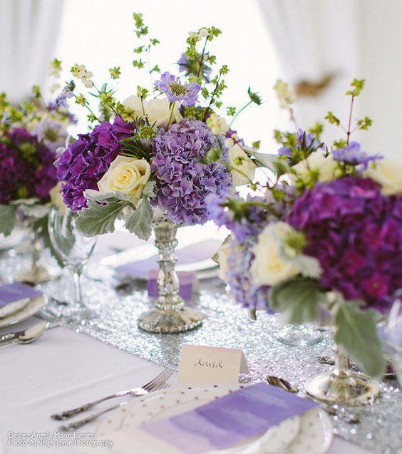 Beautiful Desiray Silver Mercury Glass Wedding Compote Pedestal