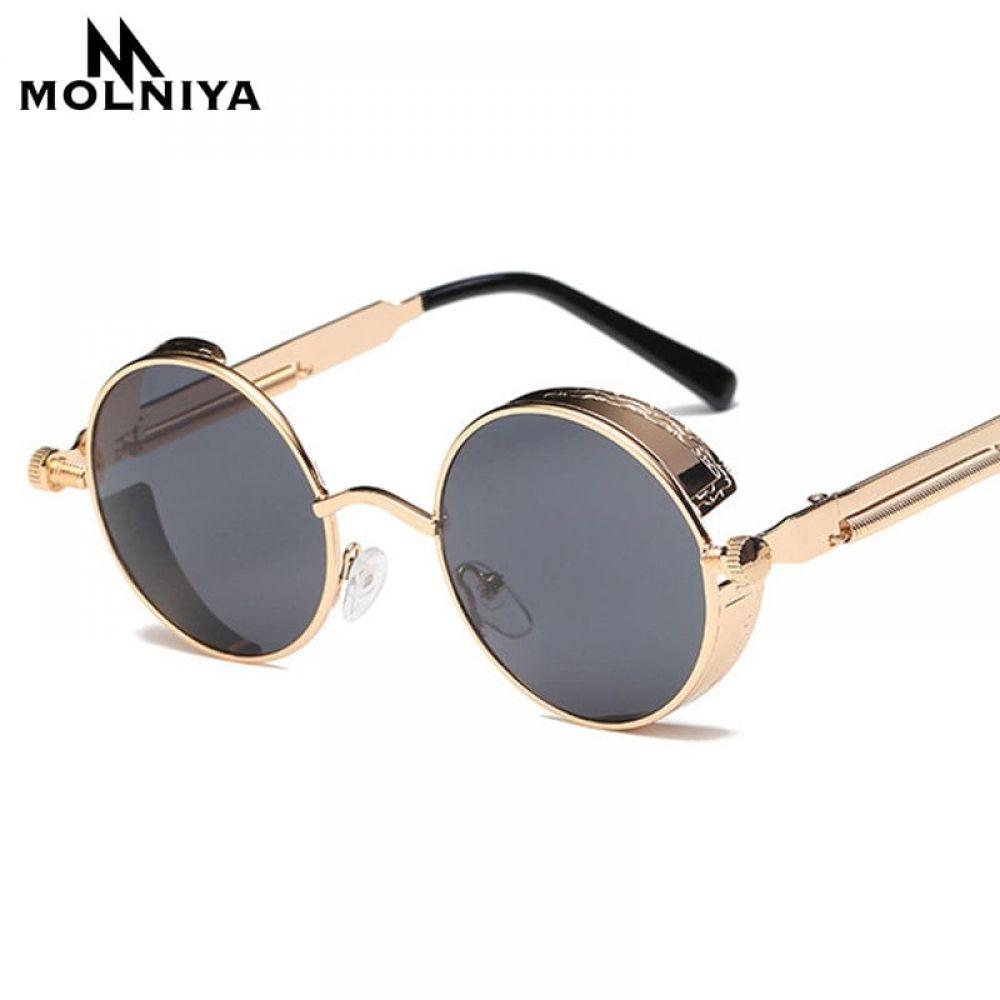 a60e486d0fd5a Steampunk Sunglasses for Men Women Metal Round Retro Frame Vintage  Sunglasses High Quality UV400 Price  12.08   FREE Shipping  hashtag3