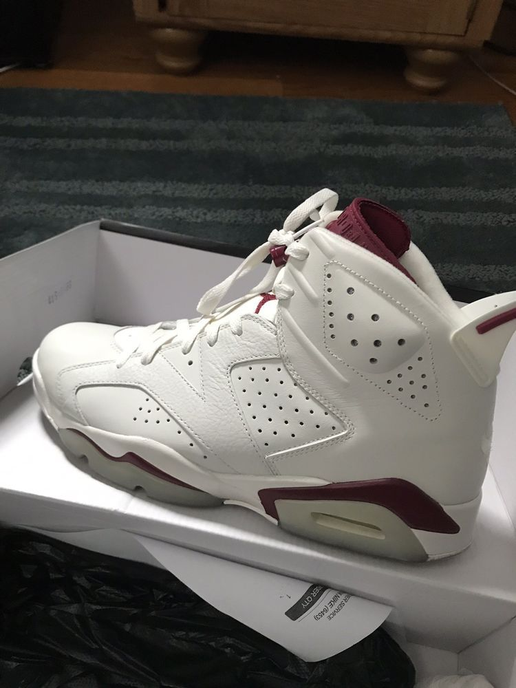 06bcec5c703677 Nike Air Jordan 6 maroon size 10.5  fashion  clothing  shoes  accessories
