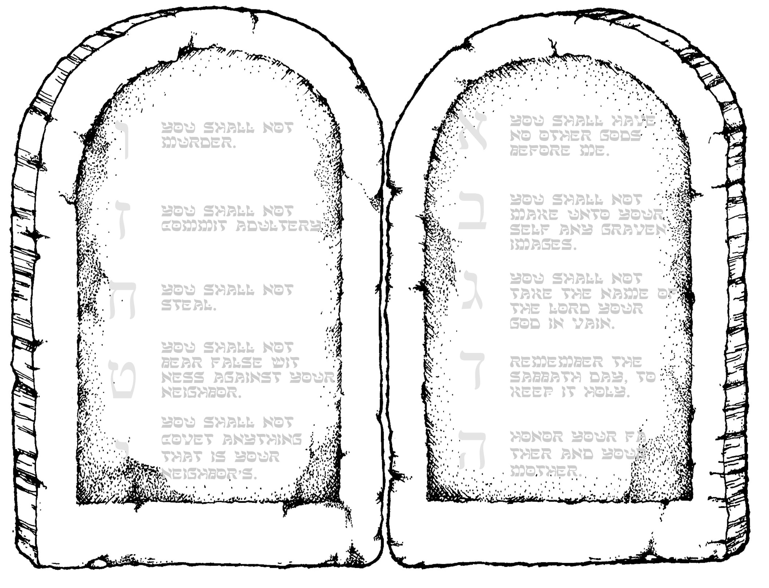 Ten Commandments Printable For 8 1 2 X 11 Paper Have
