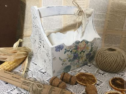 "Baskets, Boxes for handmade.  Fair Masters - handmade.  Buy Basket -lukoshko ""Bouquet"".  Handmade.  Basket Baking"