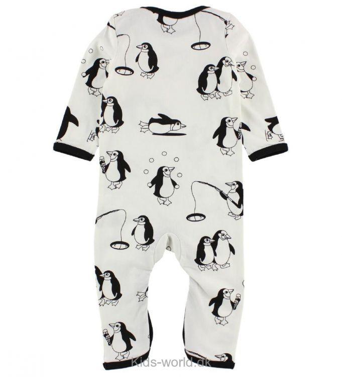 Småfolk Heldragt - Creme m. Pingviner