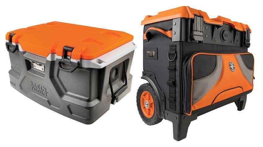 Klein Tradesman Pro Rolling Tool Bag And 48 Quart Tough Box Cooler Tool Bag Simple Bags Tradesman