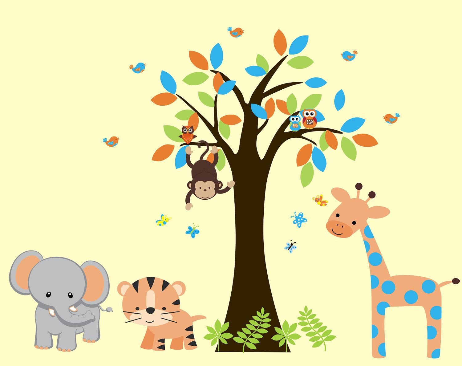 Jungle Safari Baby Wall Decal Children Wall by ...
