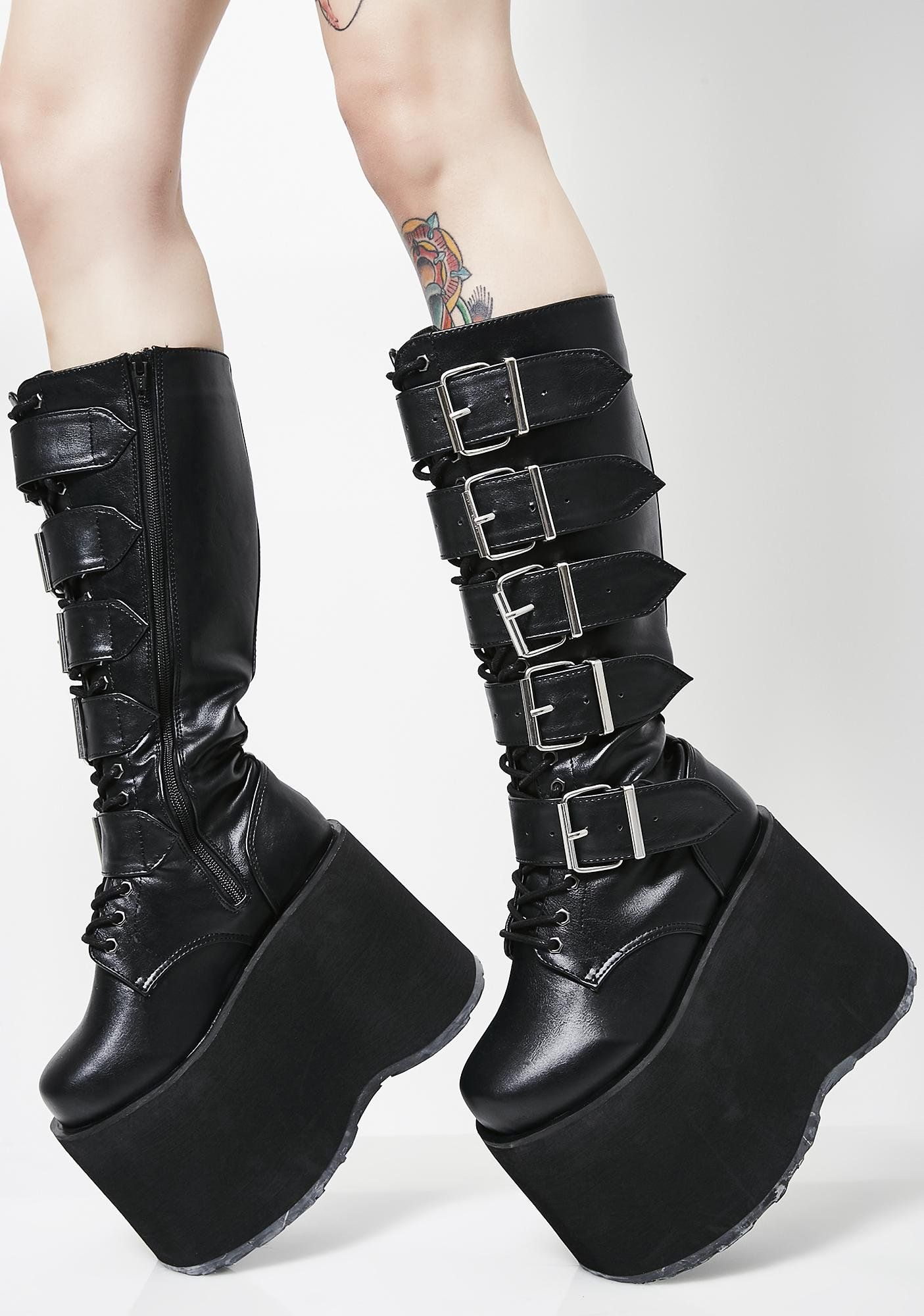 7482f3ab8fb Mega High Platform Boots in 2019 | BRAND KRUSH: DEMONIA | Platform ...