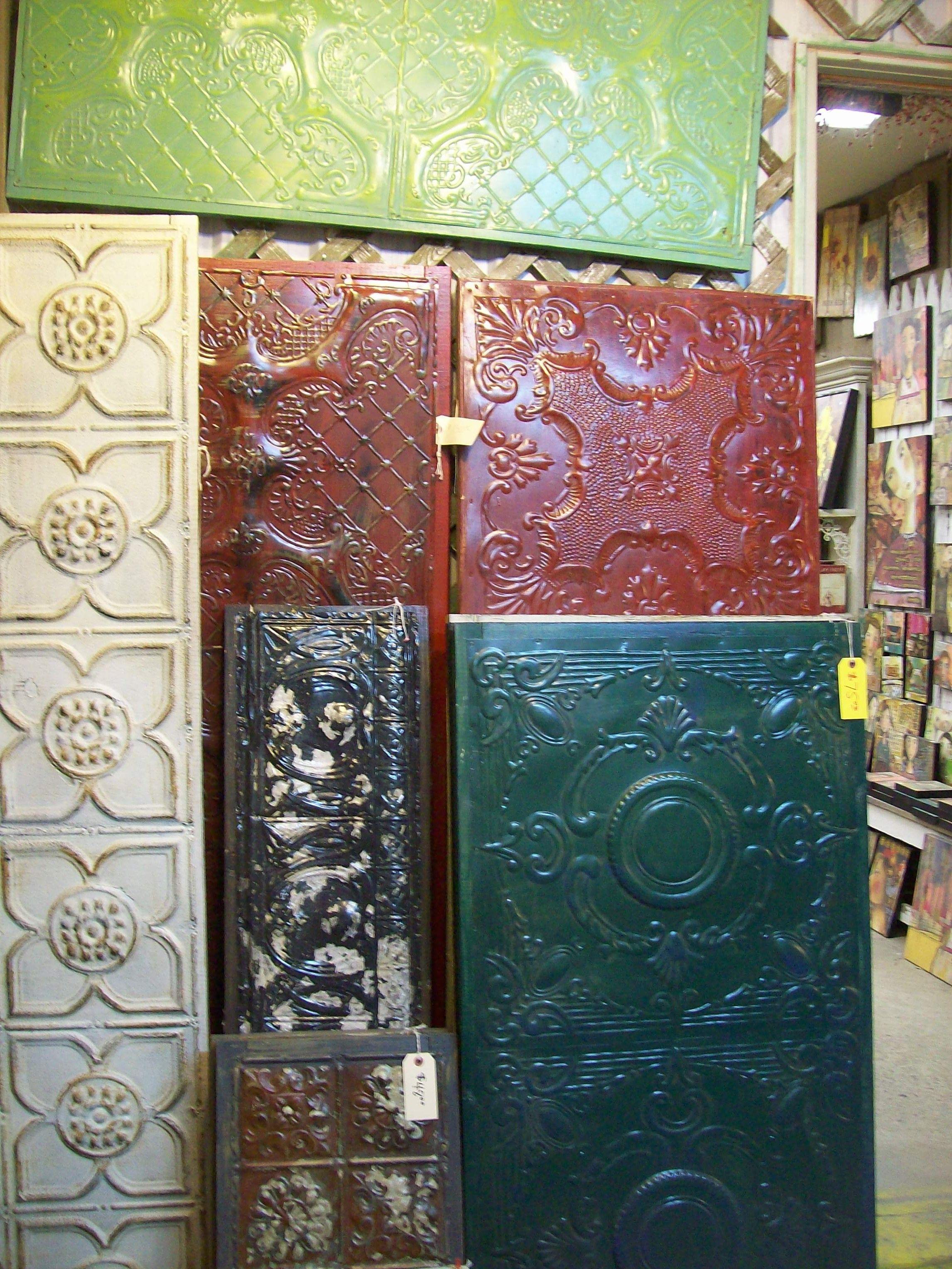 Recycled Tin Panels Junk Pile Fun Pinterest Ceiling Tiles