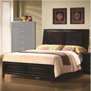 Nacey Queen Contemporary Headboard And Footboard Bed By Coaster