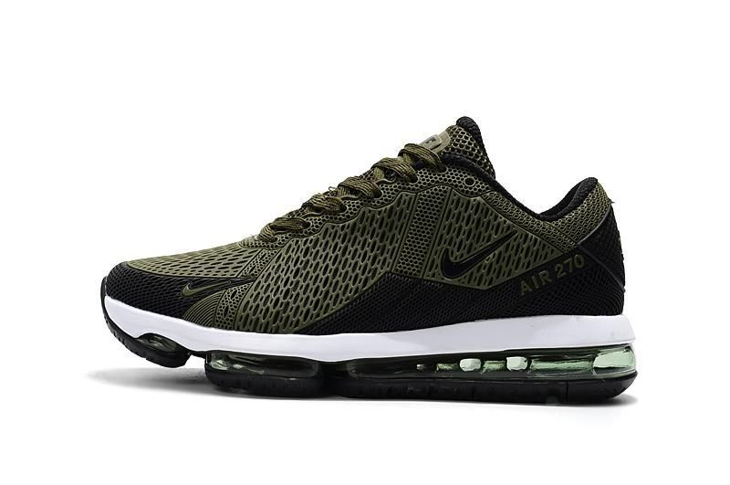 sale retailer 3bd9b d6f6b Official 2018 Nike Air Max 270 Flair KPU 2018 Latest Styles Running Shoes  Army Green