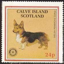 Corgi stamp, Calve Island Scotland