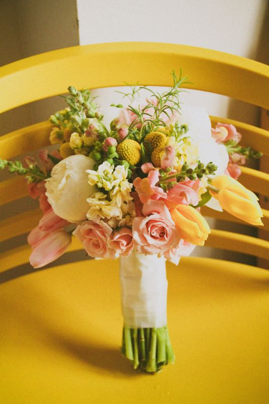 Pink White And Yellow Wedding Bouquet Jpg 533