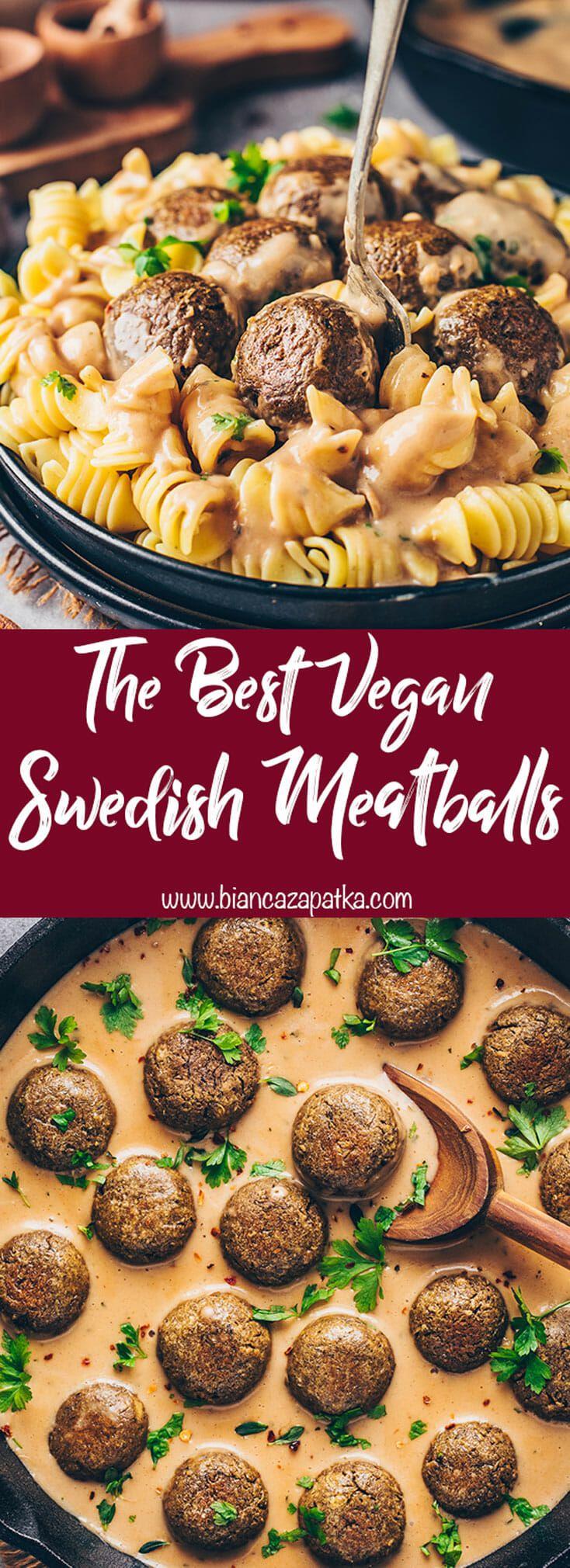 Vegan Swedish Meatballs Recipe - Bianca Zapatka | Recipes