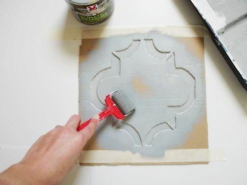 Peindre un carrelage style vieux carreaux ciment Maison Pinterest - recouvrir du carrelage salle de bain