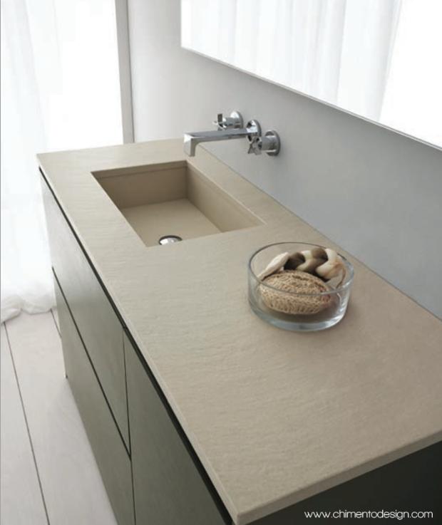 Chimento design-serie torino Top in marmo cangun con vasca integrata ...