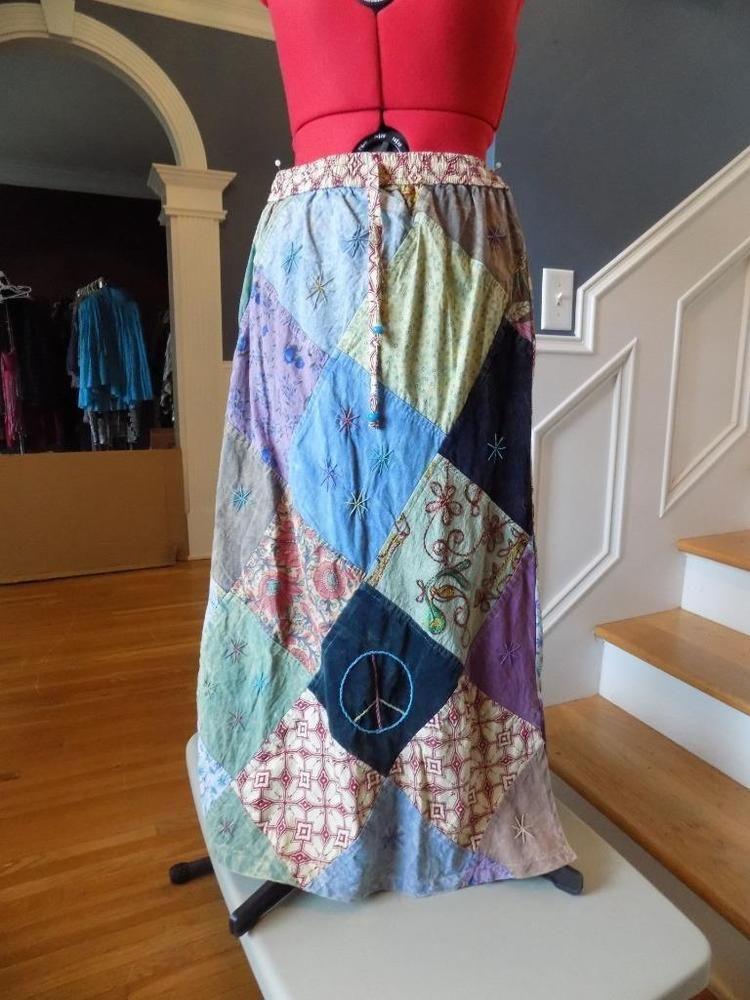 b764bd1d89140 Details about New Women's Cotton Sky Blue Long Skirt Stretch Waist ...
