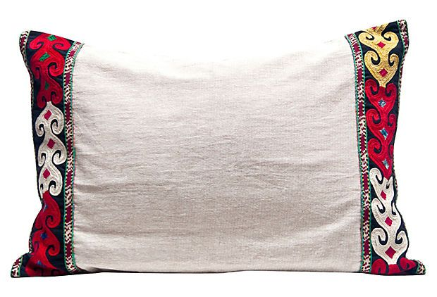 Linen      Pillow w/ Trim on OneKingsLane.com