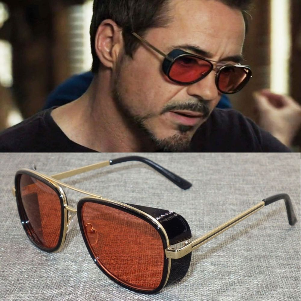 63e02603ca New Iron Man Men Retro Sunglasses Tony Stark Vintage Eye Glasses Fashion  Eyewear  fashion  clothing  shoes  accessories  mensaccessories ...
