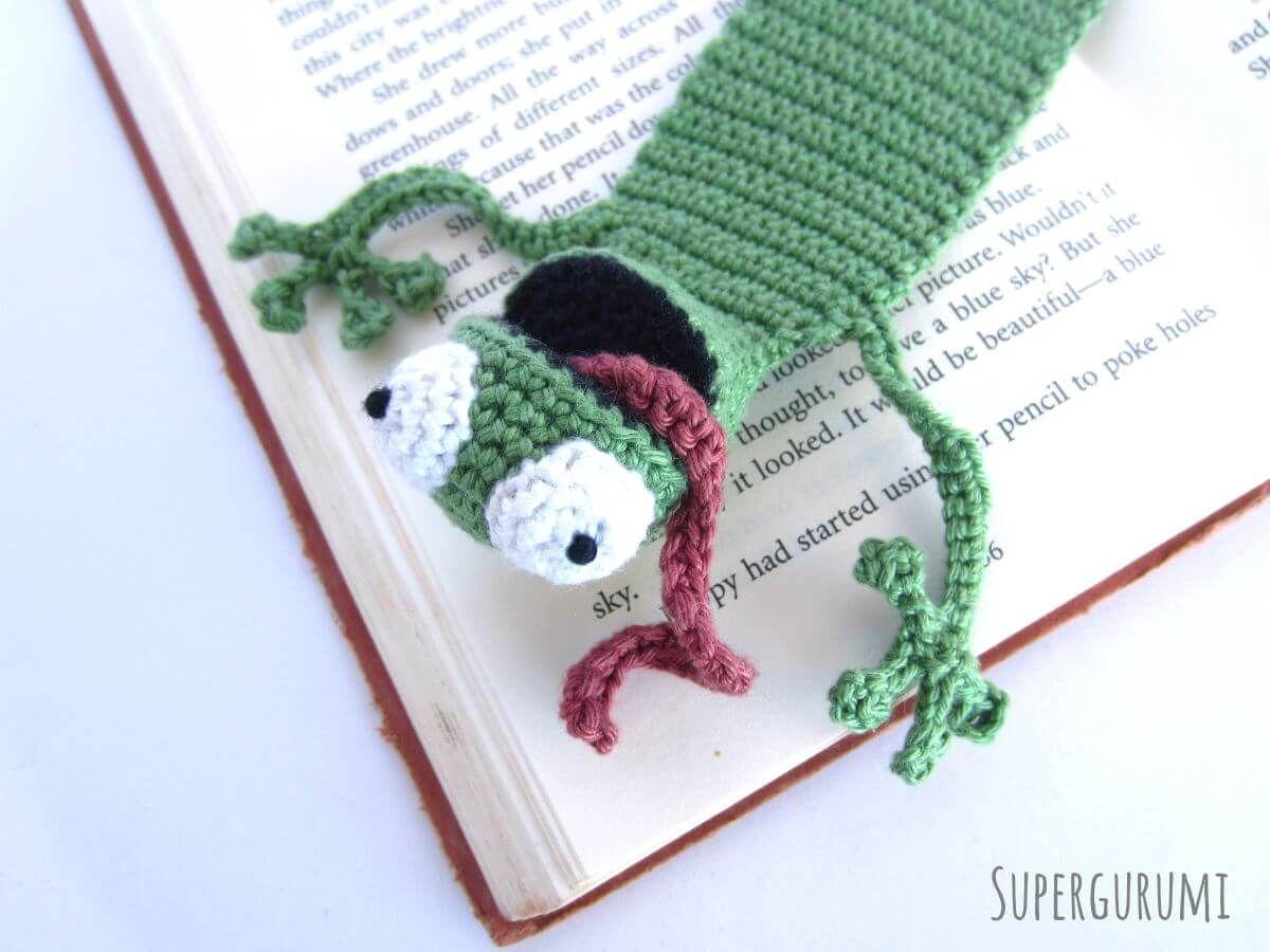 Lesezeichen Frosch häkeln | stricken | Pinterest | Frosch häkeln ...