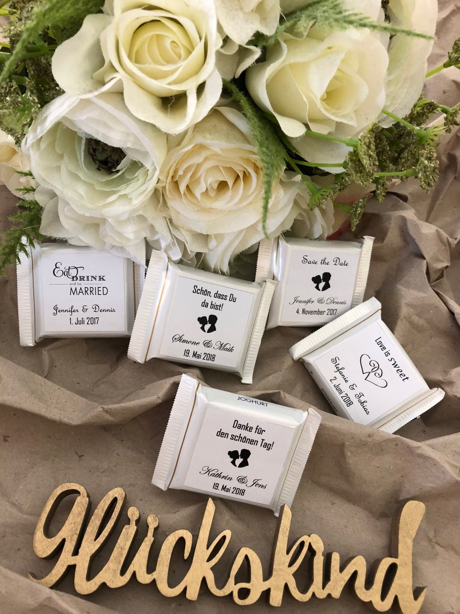 Guest Gift Wedding Baptism small Thank you chocolate