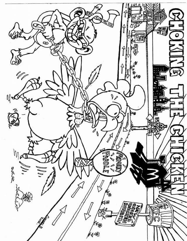Choking Mine Adult Coloring Pages Color Me Mine Coloring