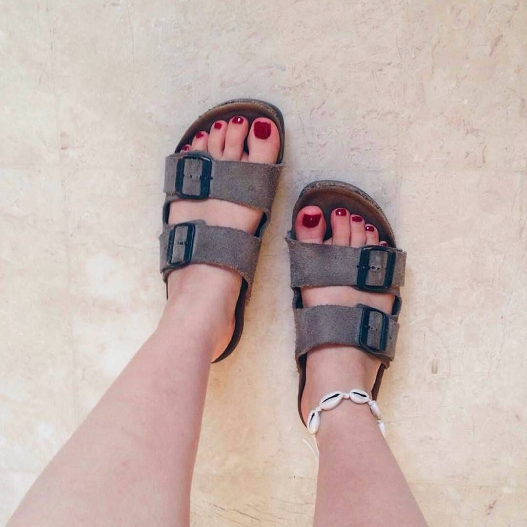 """1801f4262 Sandals   Foot Models page on Instagram  """"my new perfect model!  ronisalzer  with her sexy Teva Naot   cute pinky toes😍🙏❤  feet  barefoot  soles   footjob ..."""