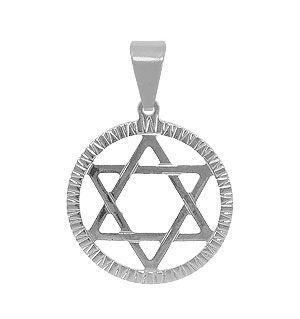 Pingente em aço inox maciço em forma da Estrela de Davi (linha esotéricos)