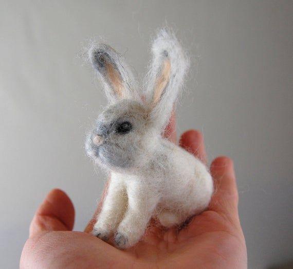 Cute Bunny. Gifts For Girls. Needle Felted Animals. Needle Felted Bunny. White Rabbit. Gifts For Kid #needlefeltedbunny