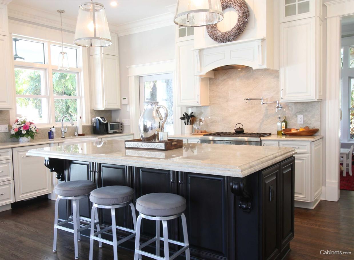 Beautiful Two Toned Kitchen Kitchen Island Cabinets Buy Kitchen
