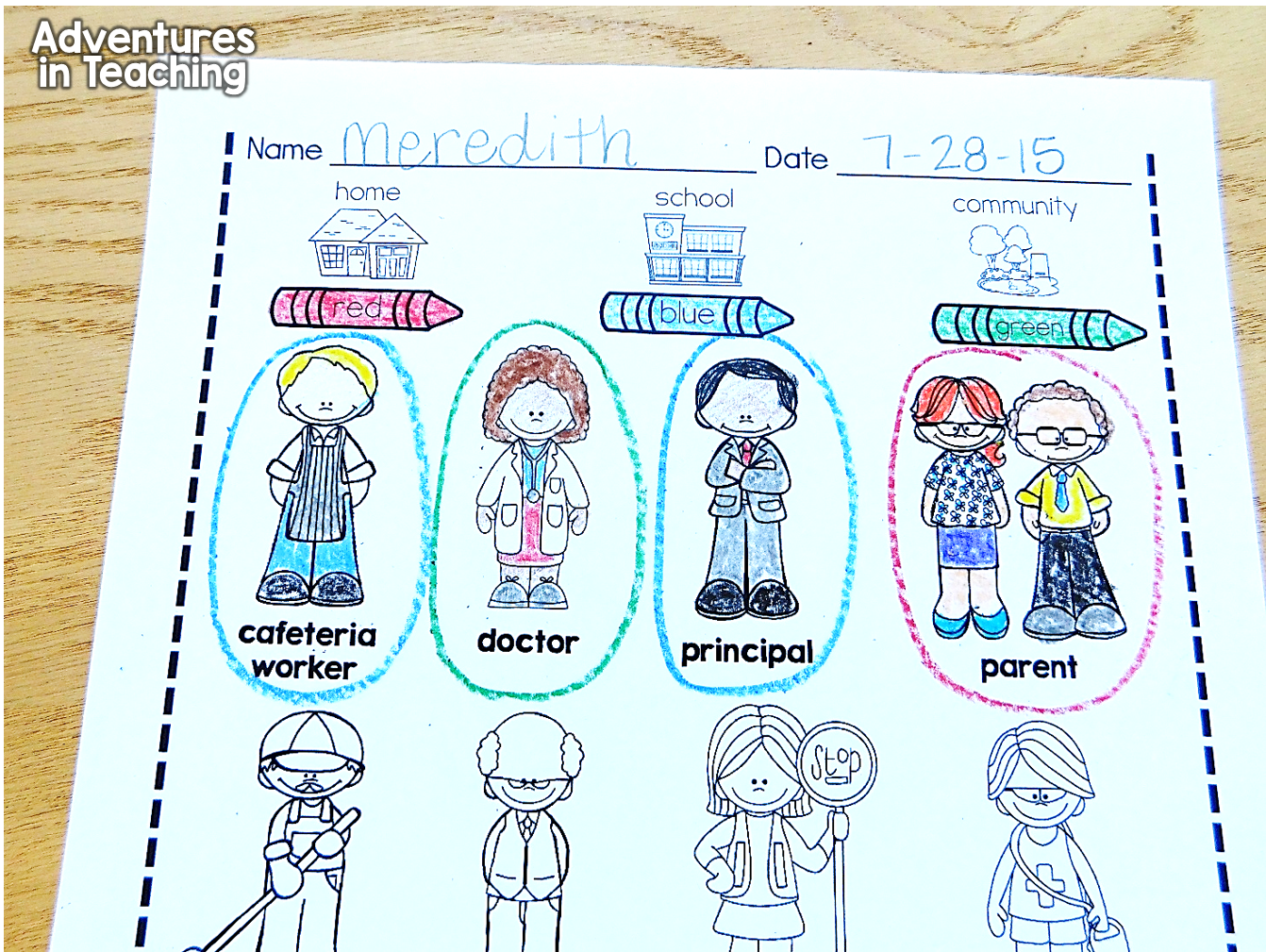 Authority Figures in First Grade   Kindergarten social studies lessons [ 1009 x 1342 Pixel ]