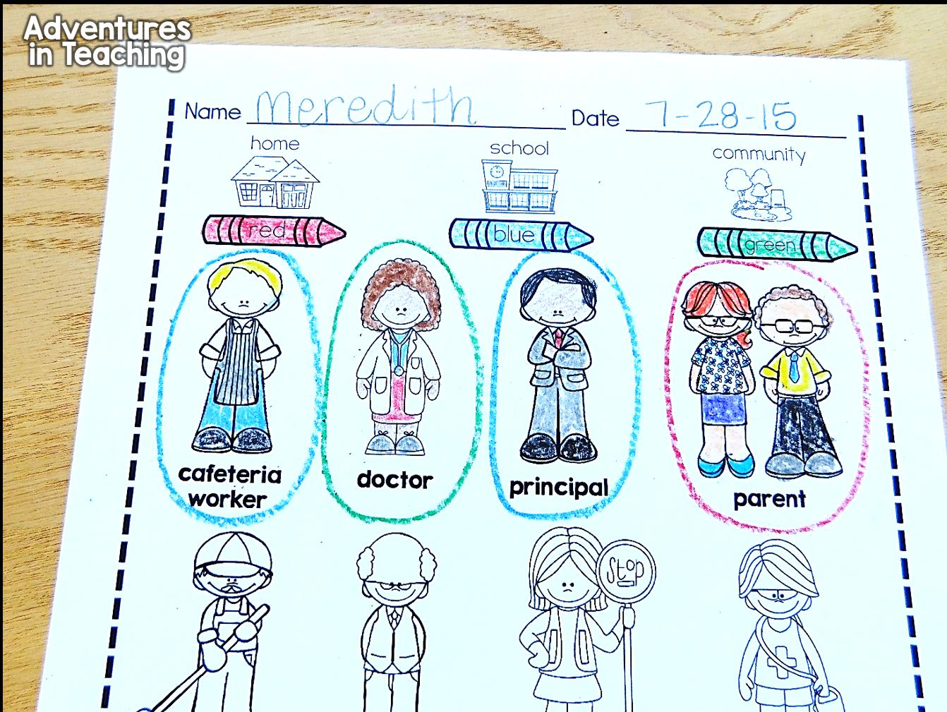 medium resolution of Authority Figures in First Grade   Kindergarten social studies lessons