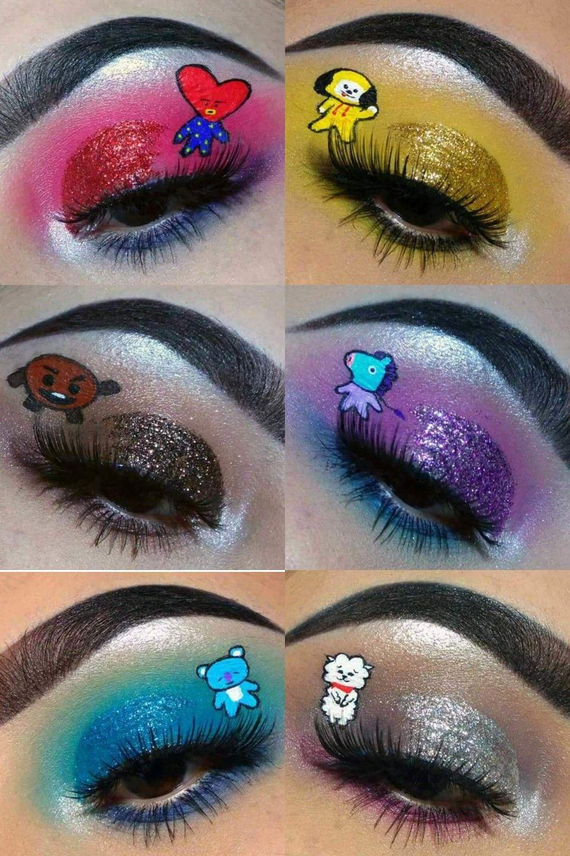 bt21 #eyeshadow #bts #line | Maquilhagem para olhos, Visuais de maquiagem,  Acessorios de maquiagem